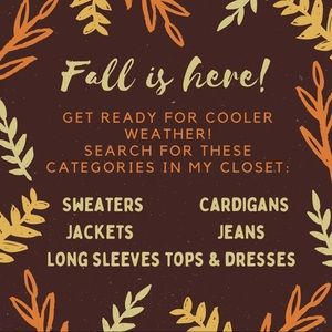 🍁Fall clothing available!🍁